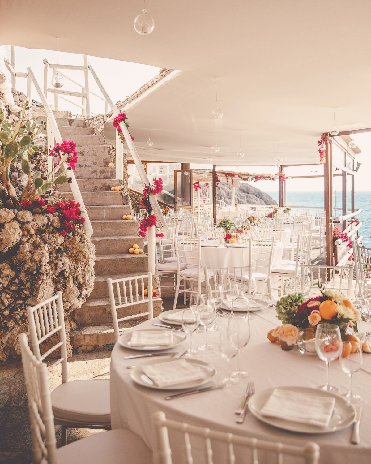 Beach Wedding In Capri. Restaurants In Capri.