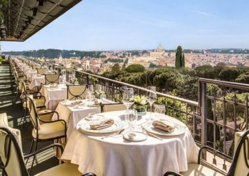 Get Married in Rome at Luxury Hotel with Panoramic Terrace Overlooking Rome