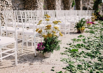 Wedding ceremony decor details in Capri