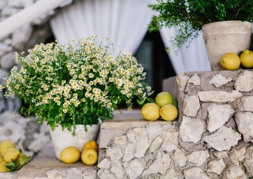 Wedding decor details in Capri