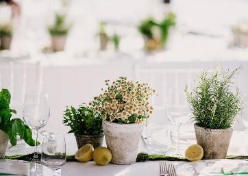 Wedding table decor details in Capri