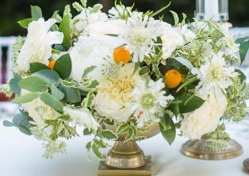 Elegant Wedding floral decor details in Ravello