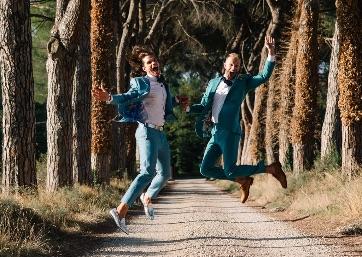 Fun Wedding in Umbria