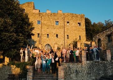 Lovely Wedding group in Umbria
