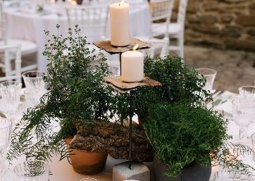 Wedding decor details in Umbria