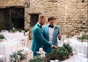 Wedding tables decor in Umbria