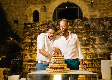 Delicious Italian Wedding cake in Umbria
