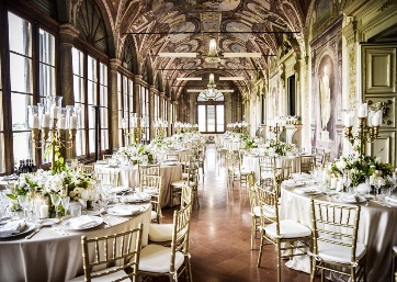 Wedding reception in the spectacular salon in Florence