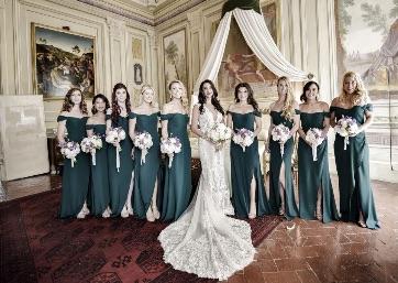 Elegant Bridal party in Florence