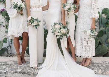 Amazing Bridal party bouquets in Apulia
