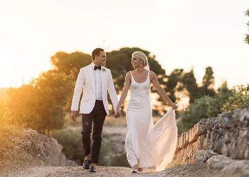 Spectacular Wedding shooting at the sunset in Apulia