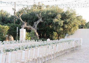 Elegant Wedding reception alfresco in Apulia