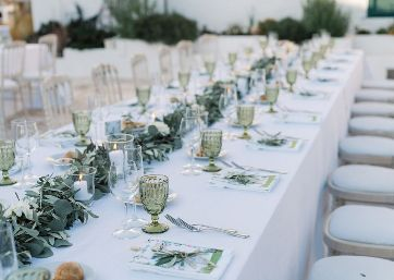 Wedding decor details in Apulia