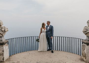 Wedding pics at the Belvedere in Ravello