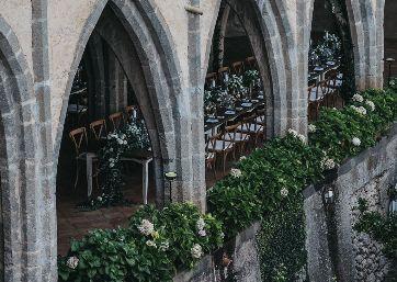 Elegant Wedding dinner in Ravello
