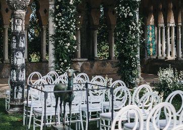 Wedding ceremony setting in Ravello