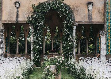 Wedding ceremony decor in Amalfi Coast