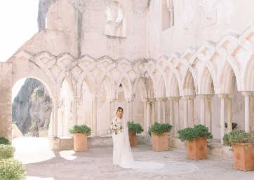 Bridal portrait at the Convent in Amalfi Coast