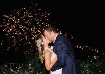 Wedding fireworks in Ravello