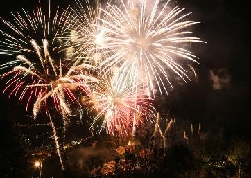 Silent Wedding fireworks in Ravello
