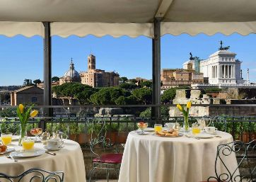 Get Married in Rome at Terrace Location over the Roman Forum