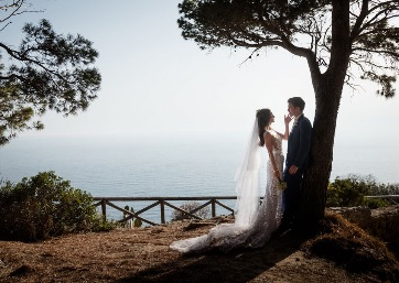 Get Married in Capri at Spectacular Villa located along the edge of the rocky ridge and close to a lovely pine forest