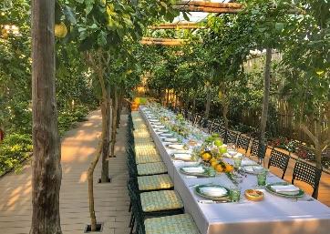 Get Married in Capri at Enchanting restaurant set among the lemon trees in Capri